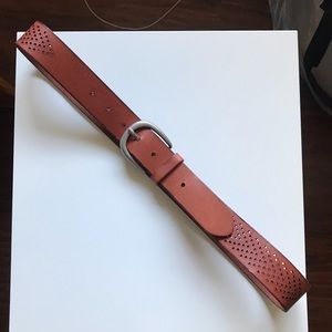 Womens AEO Leather Arrow Lasercut Belt
